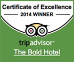 TripAdvisor 2014 certificate in excellence