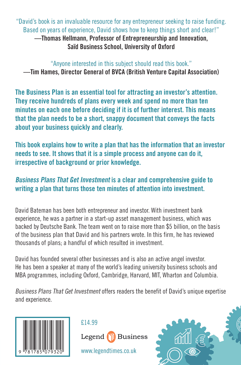 About the book business plans that get investment by david bateman about the book the business plan flashek Images